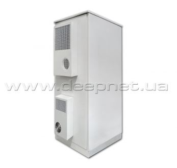 Climatic telecommunication floor cases with air conditioning